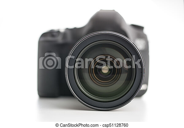 Professional camera with lens. - csp51128760