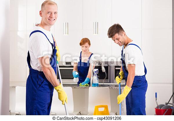 Professional cleaner in uniform - csp43091206