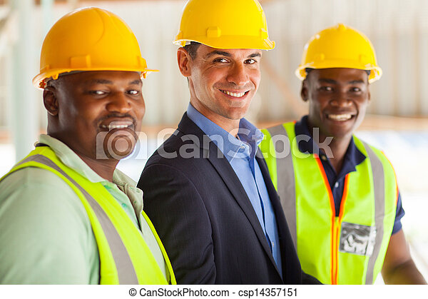 professional construction manager and workers - csp14357151