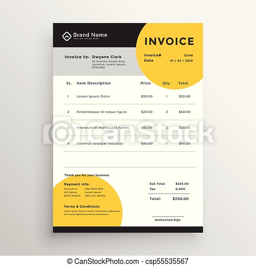 Professional creative vector invoice template design clip art vector professional creative vector invoice template design thecheapjerseys Choice Image