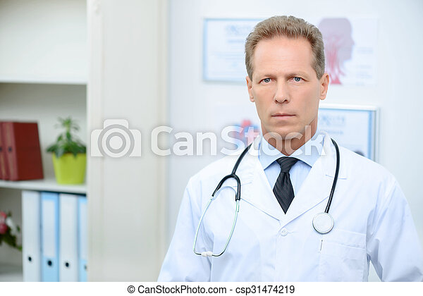Professional doctor involved in work  - csp31474219