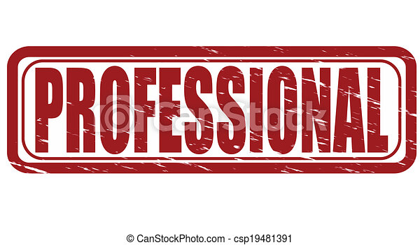 Professional Stamp With Word Inside Vector Illustration