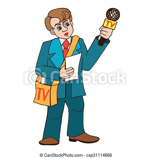 professional journalists vektor professional journalist und clip rh canstockphoto com journalist clipart free journalist writing clipart