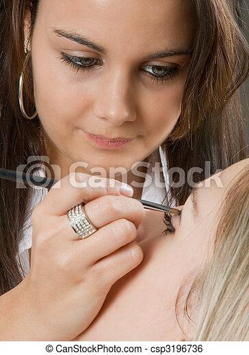 Professional make-up - csp3196736