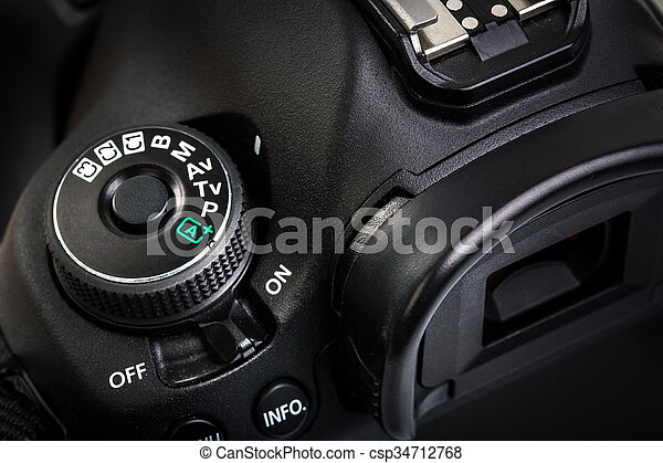 Professional modern DSLR camera  - csp34712768