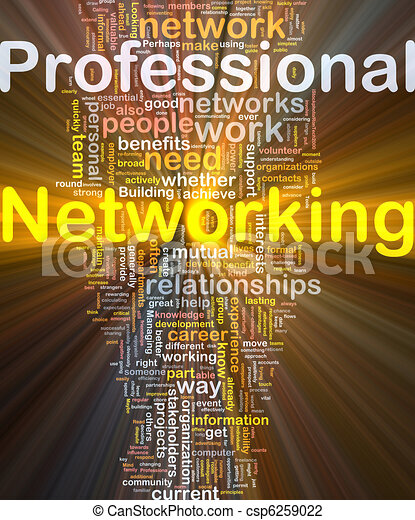 Professional networking background concept glowing - csp6259022