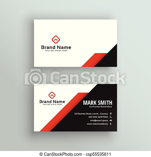 Professional red and black business card design professional red and black business card design csp55535611 colourmoves