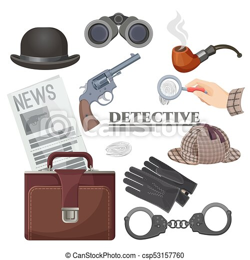 Detective Hat and Pipe Hat /& Pipe Set Accessories for the Classic Detective