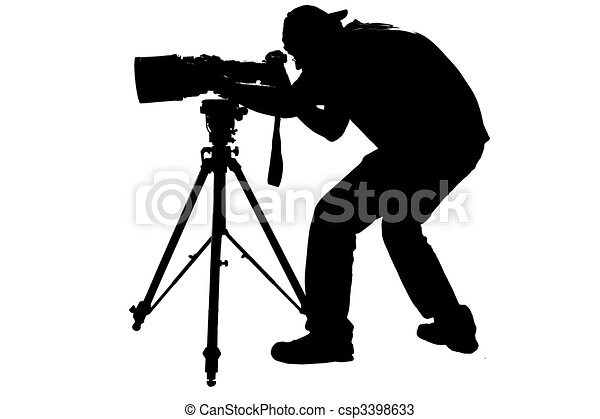 professional sports photographer silhouette drawings search rh canstockphoto com photograph clipart photography clipart free