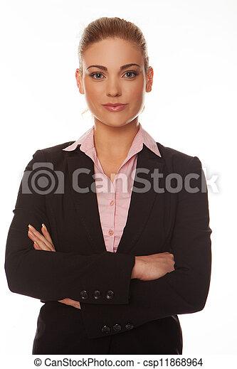 professional woman, attraktiv - csp11868964