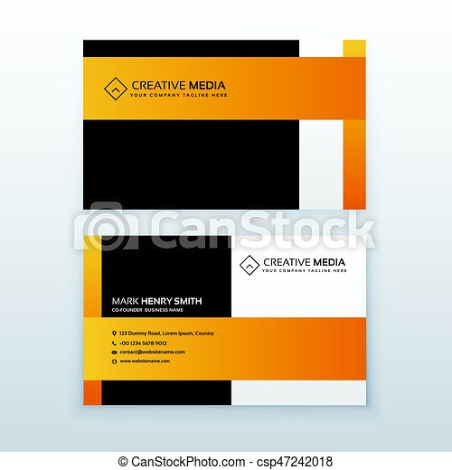 Professional yellow and black business card design template for your professional yellow and black business card design template for your brand csp47242018 reheart Gallery