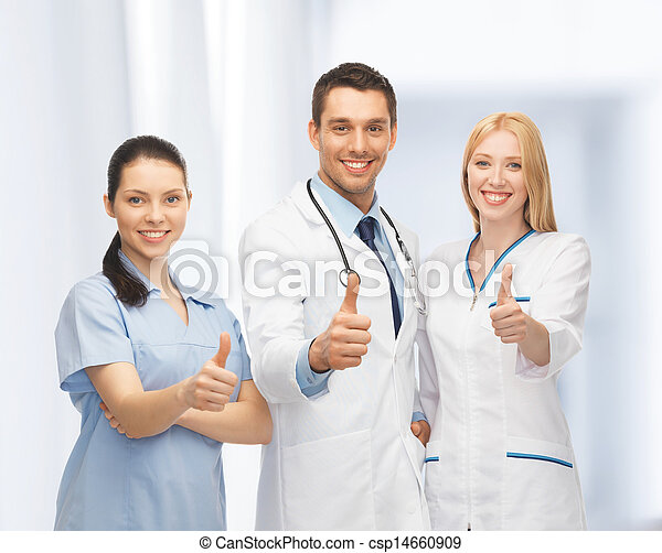 professional young team or group of doctors - csp14660909