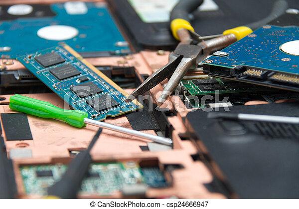 professionale, laptop, riparazione - csp24666947