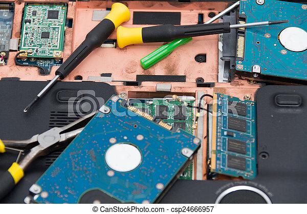 professionale, laptop, riparazione - csp24666957