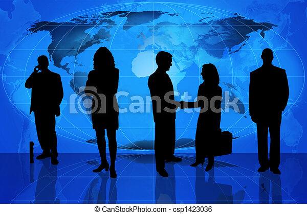 professionale, silhouette, affari - csp1423036