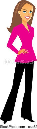 professionele vrouw, figuur - csp5286065