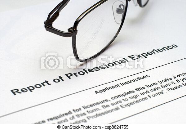 professionell, erfahrung, form - csp8824755