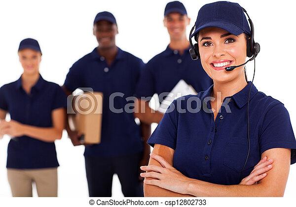 professionell, kurierdienst, personal - csp12802733