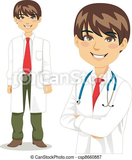 professionnel, beau, docteur - csp8660887