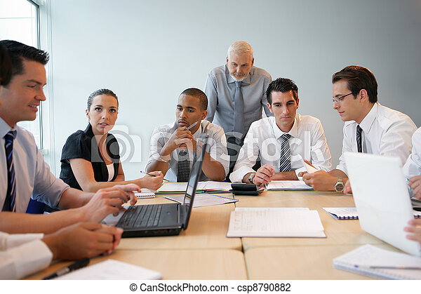 professionnel, formation, equipe affaires - csp8790882