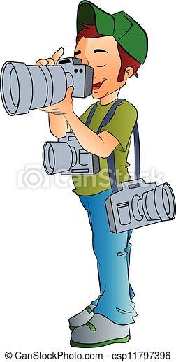 professionnel, photographe, illustration - csp11797396