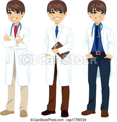 professionnel, poser, docteur - csp17789724