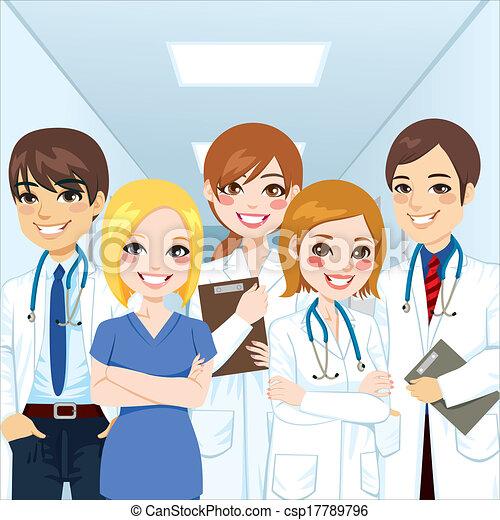 professionnels, équipe soignant - csp17789796