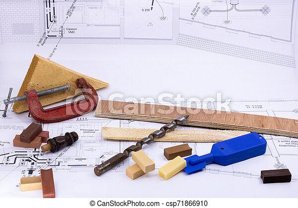 professionnels, charpenterie, ventes, équipement, construction, bricolage, cabinetmaking, marquetry - csp71866910