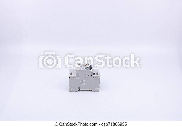 professionnels, circuit, électricité, objet, -, isolé, fusible, vente, équipement, construction, bricolage, fond, blanc, casseur - csp71866935