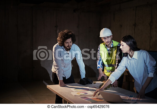 professionnels, groupe, site, construction, architecte, ingénieur - csp65429076