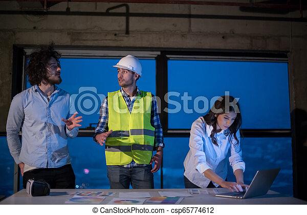 professionnels, groupe, site, construction, architecte, ingénieur - csp65774612