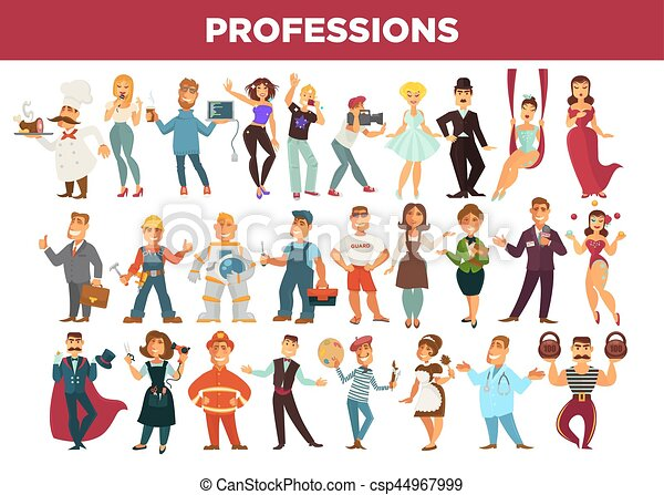 Occupation set stock vector. Illustration of teacher - 28988578