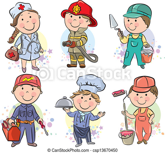 Professions kids set 3 - csp13670450
