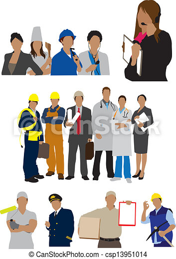 PROFESSIONS workers illustration - csp13951014