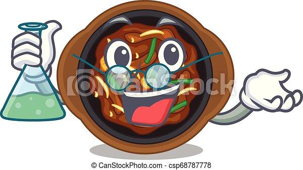Professor bulgogi in a the bowl cartoon - csp68787778