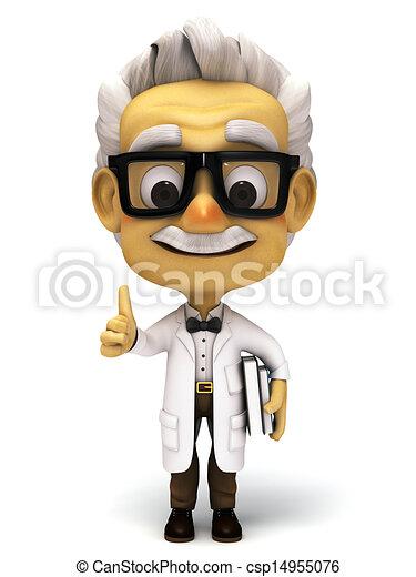 Professor holding  a book - csp14955076