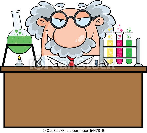 Professor In The Laboratory - csp15447019
