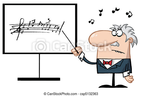 professor música, sênior - csp5132363