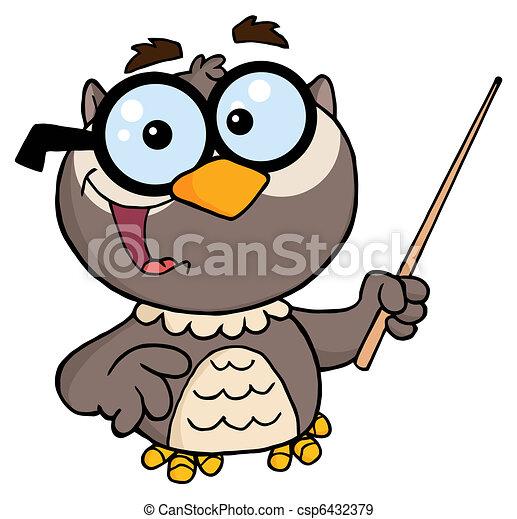 professor owl cartoon character owl teacher cartoon character with