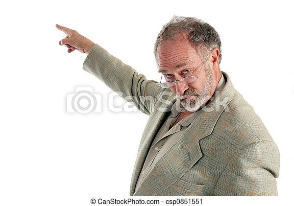 Professor pointing - csp0851551