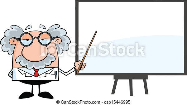 Professor Presenting On A Board - csp15446995