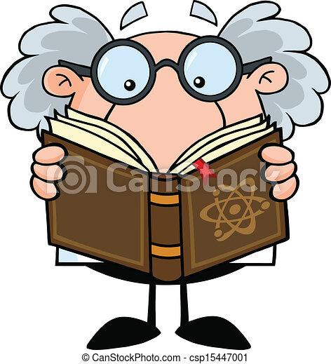 Professor Reading A Book - csp15447001