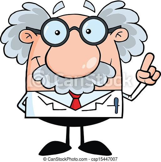 professor, wissenschaftler, idee, oder - csp15447007