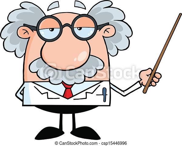 Professor mit einem Zeiger - csp15446996