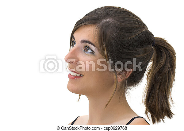 profiel, het glimlachen - csp0629768