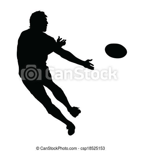 profil, balle, rugby, speedster, dépassement, côté - csp18525153