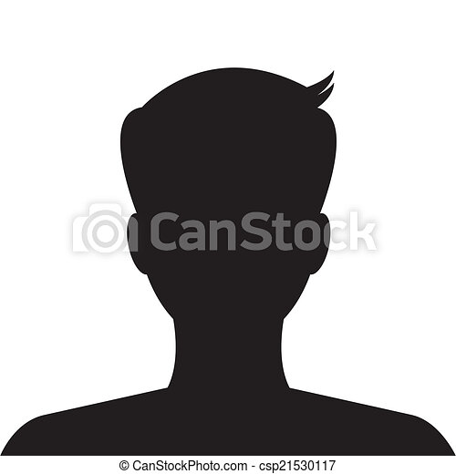 profil, bild, gebrauch, website., avatar, vector., sozial, mann - csp21530117