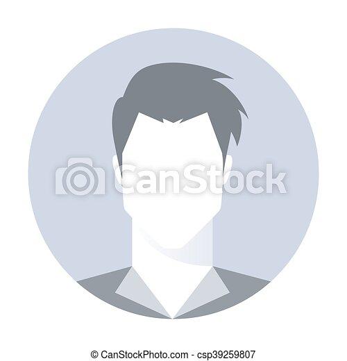 profil, bild, -, vektor, avatar, mann - csp39259807