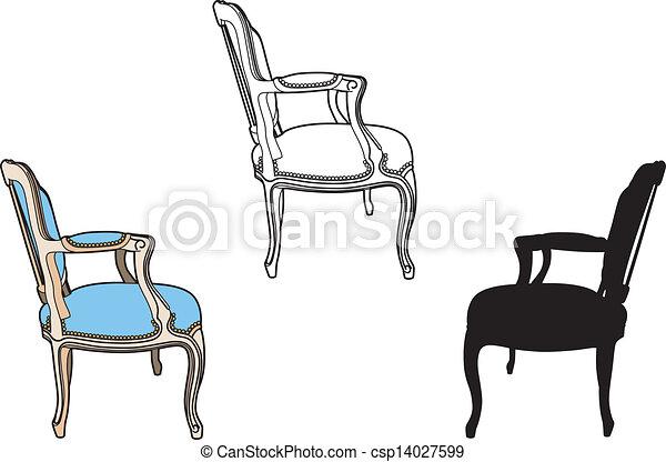 profil, chaise, style - csp14027599