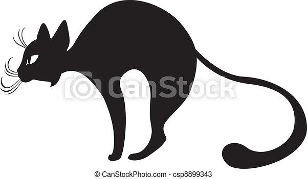 Dessin Chat De Profil profil, chat noir. profil, noir, chats, silhouette, gracieux.